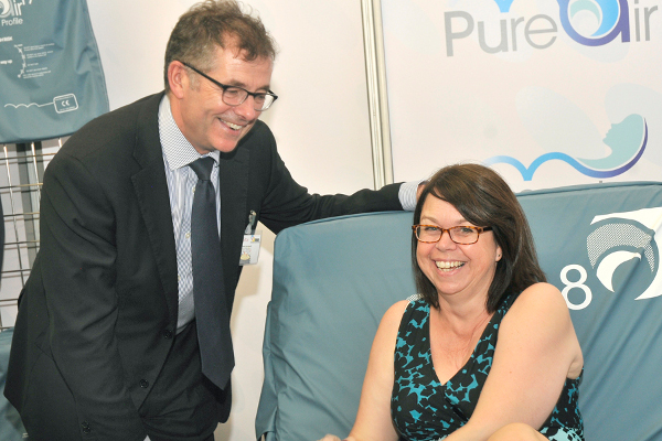Enjoying the comfort of the Pure Air 8 pressure relieving mattress