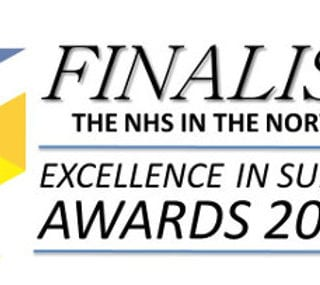 Finalists in the NHS in the North Excellence in Supply Awards Logo