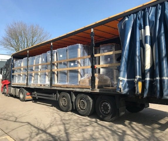 Flexi crossover mattresses loaded and ready for delivery