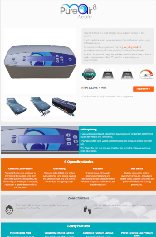 Pure Air 8 Acute Product Page