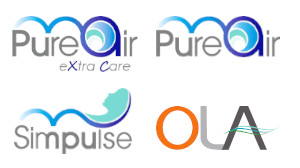 Brand images; Pure Air Extra Care, Pure Air, Simpulse, OLA